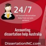 Accounting dissertation help Australia