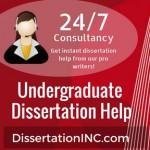 Undergraduate Dissertation Help