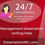Management dissertation writing help